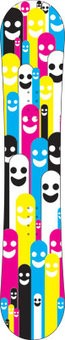 Knallige Figuren Snowboard Sticker