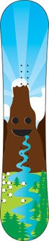 Children snowboard Sticker