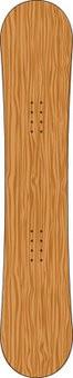 Wooden snowboard Sticker