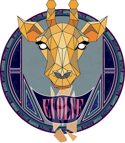 Urban Sticker - Giraf