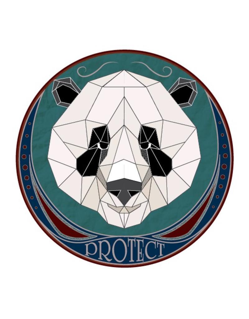 Autocollant urbain - Panda