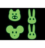 Animals faces stickers