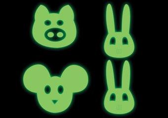 Tier Gesichter Sticker