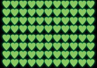 Cœurs autocollant