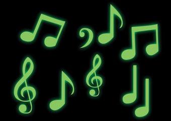Muzieknoten stickers