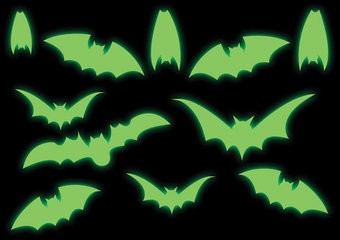 Vleermuis stickers