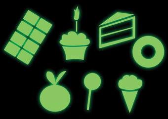 Süßigkeiten Sticker