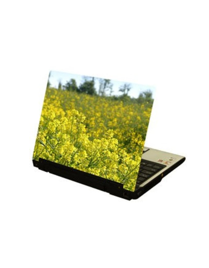 Amarillo flors ordenador portátil pegatina