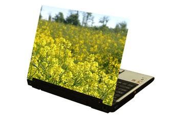 Gelbe Blumen Laptop Sticker