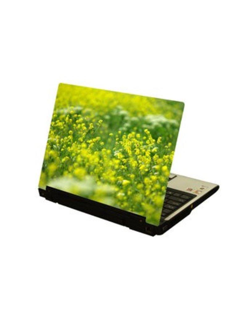 Amarillo flors ordenador portátil pegatina 1