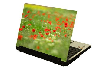Red flowers laptop Sticker