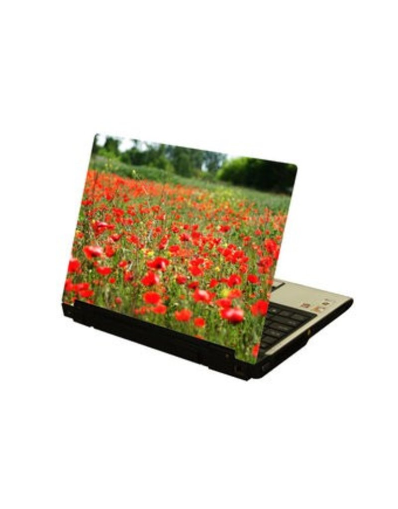 Red Flowers 1 laptop Sticker