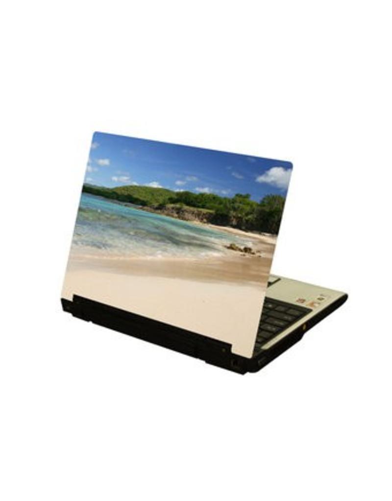Playa ordenador portátil pegatina