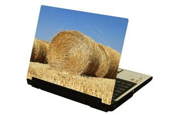 Strohballen Laptop Sticker