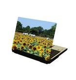 Zonnebloemen en koeien laptop Sticker