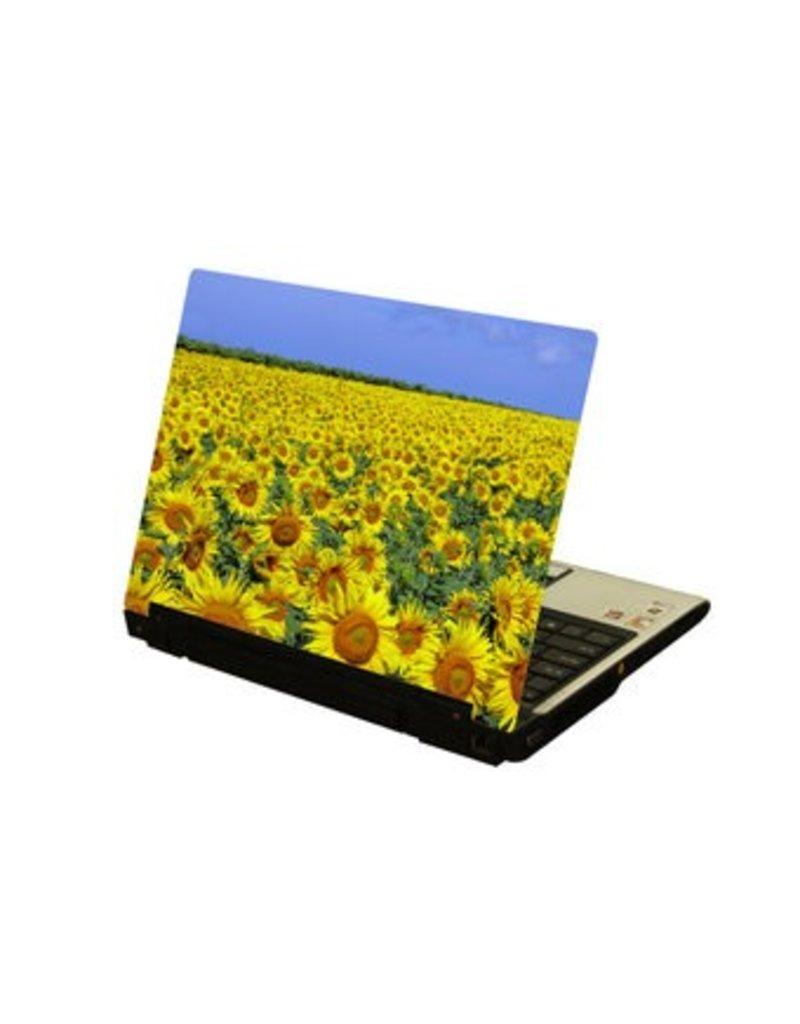Zonnebloemenveld laptop Sticker