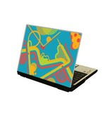 Abstract laptop sticker