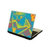 Abstracto ordenador portátil pegatina