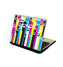 Cmyk figures Laptop sticker