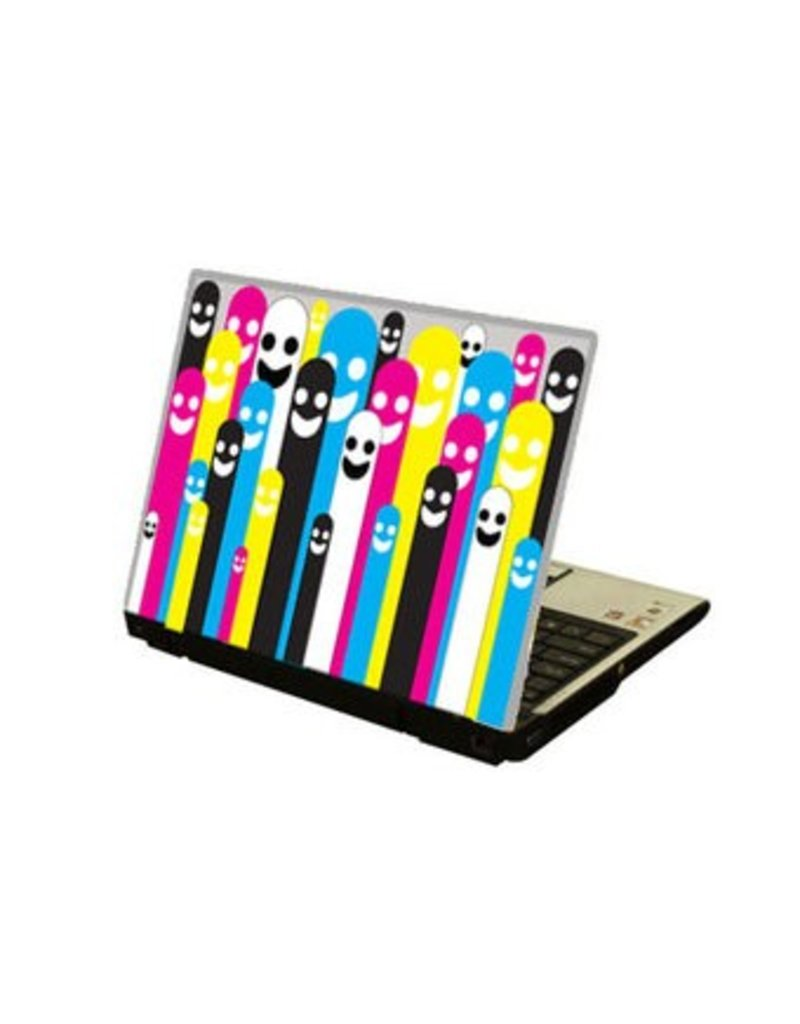 Cmyk figures Laptop sticker