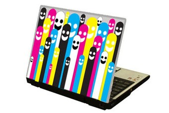 Cmyk Puppen Laptop Sticker