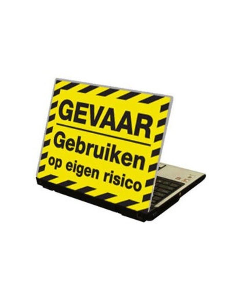 """Gevaar"" Texte NL autocollant laptop"