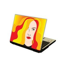 Color pelo ordenador portátil pegatina