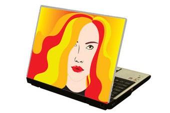 Coloured hair Laptop sticker