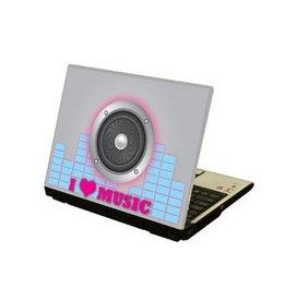 I Love Music Laptop Sticker