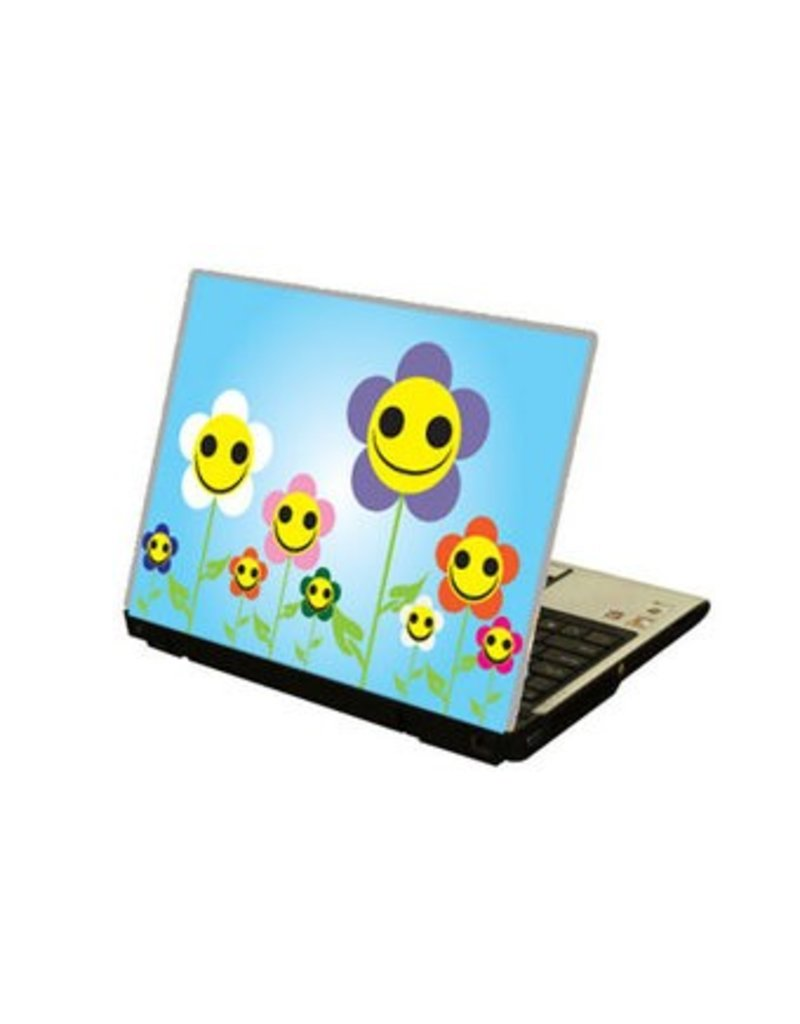 Smiling Flowers Laptop sticker
