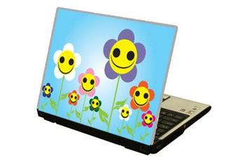 Lächelnde Blumen Laptop Sticker