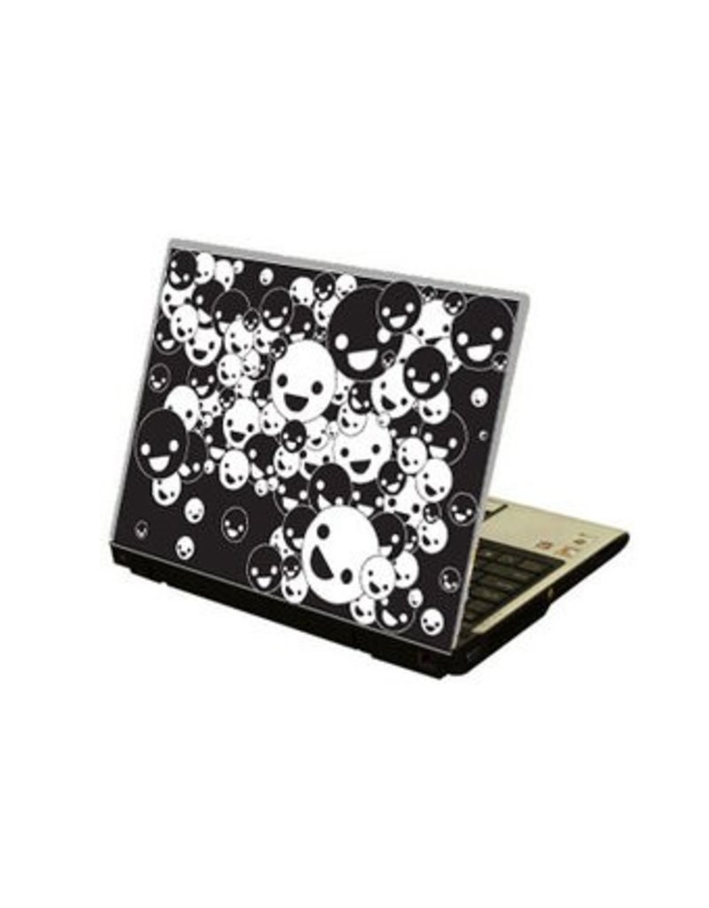 Lachende Gesichter Laptop Sticker