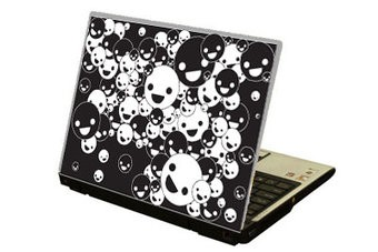 Pegatina ordenador portátil bolas sonriado
