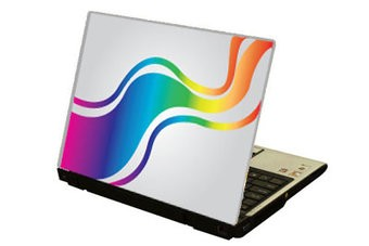 Acro iris colors ordenador portátil pegatina