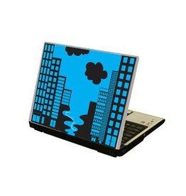 Ciudad ordenador portátil pegatina