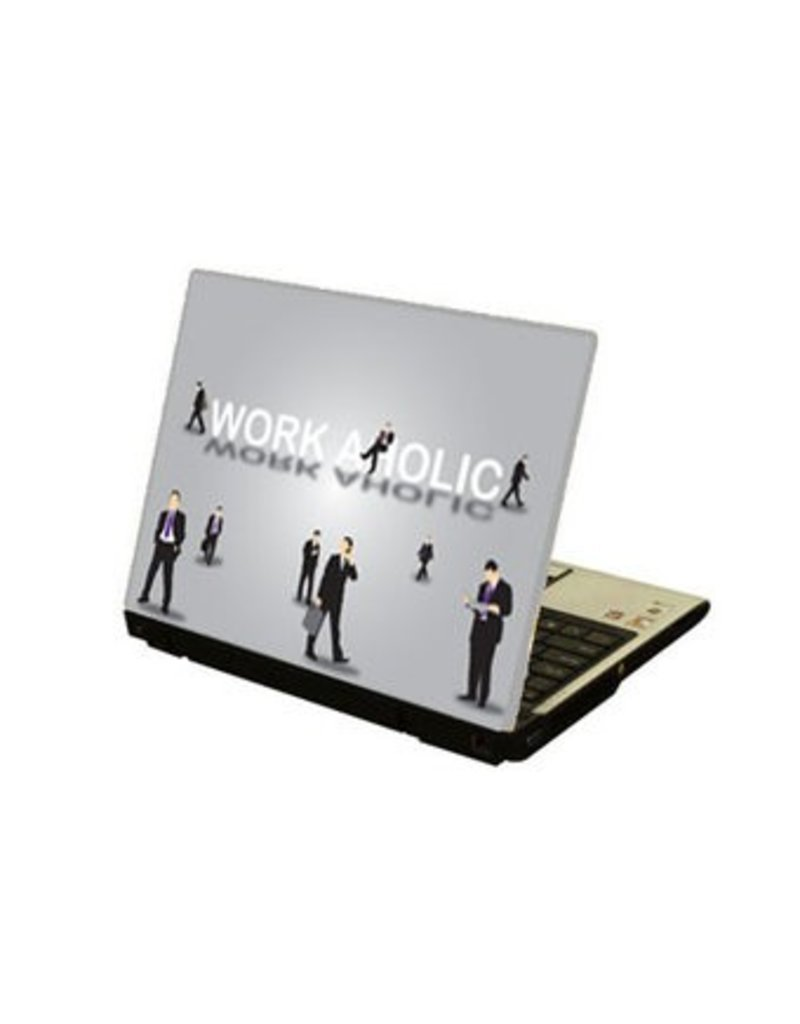 Workaholic Laptop Sticker