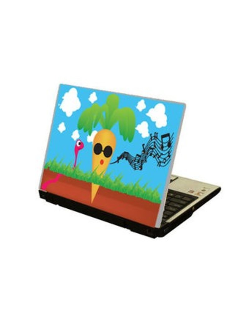 Singing Carrot laptop sticker