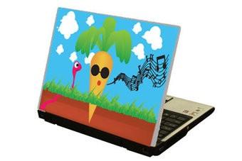 Singing Carrot laptop sticker