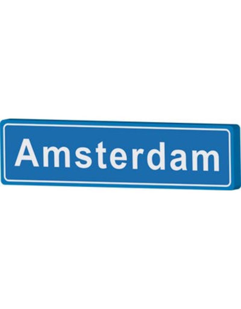 Amsterdam panneau nom de ville