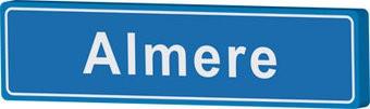 Almere cartel de entrada ciudad