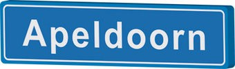 Apeldoorn cartel de entrada ciudad