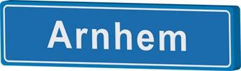 Arnhem panneau nom de ville
