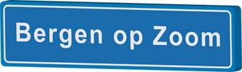 Bergen op Zoom cartel de entrada ciudad