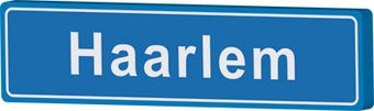 Haarlem place name sign