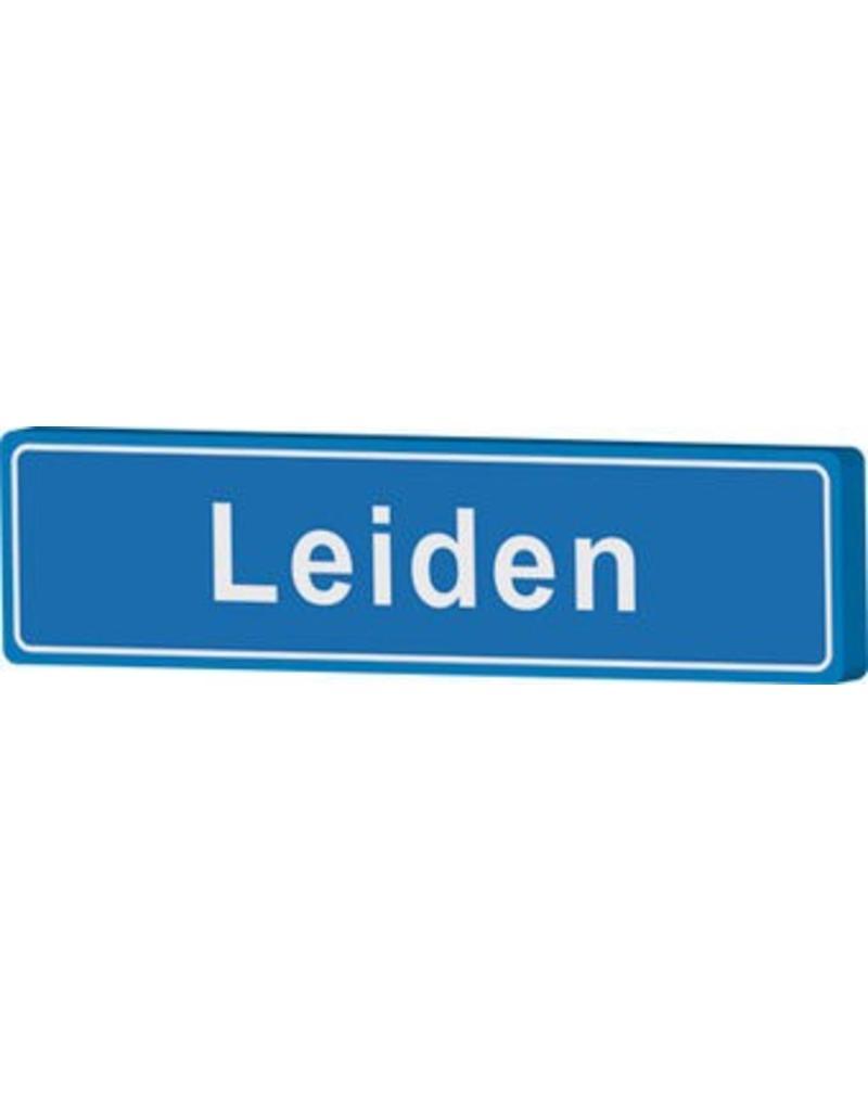 Town sign Leiden