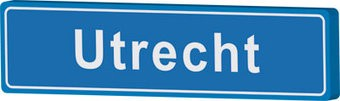 Señal entrada a población Utrecht