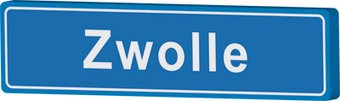 Town sign Zwolle