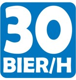 "Car sticker ""30 bier per uur"""