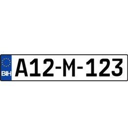 Bosnia License plate Sticker