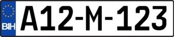 Autocollant plaque d'immatriculation bosniaque